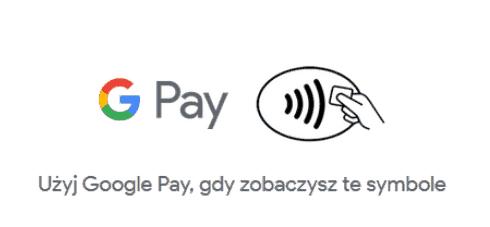 symbole, które wskazują możliwość zapłacenia zpomocą Google Pay