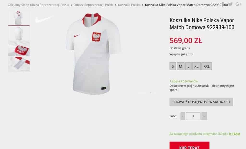 Koszulka reprezentacji 2018 - Nike Polska Vapor Match