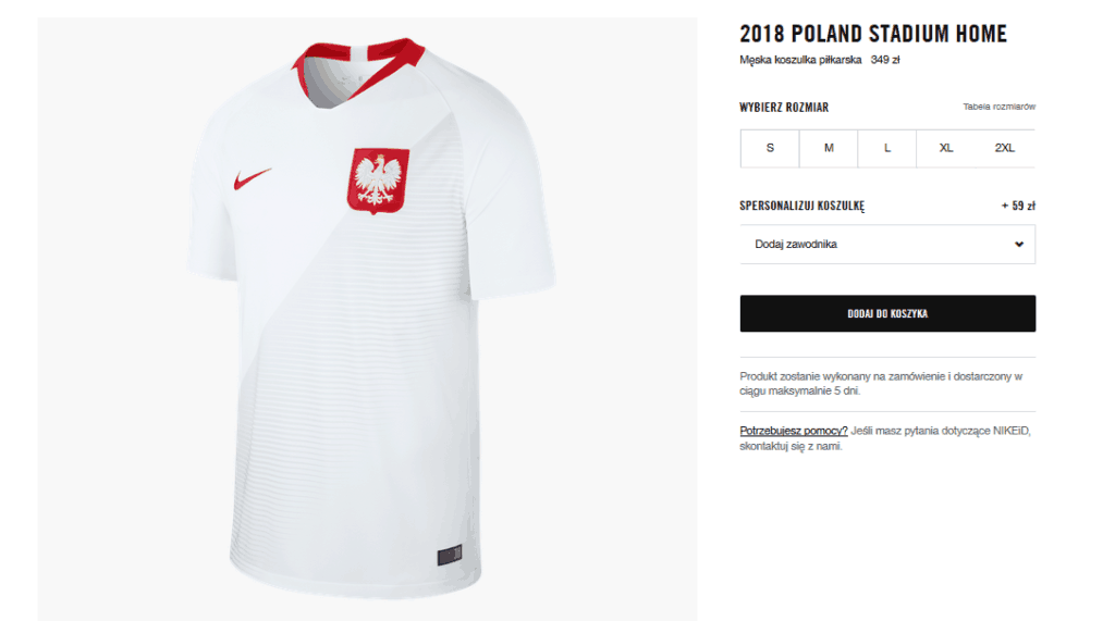 Koszulka reprezentacji Polski 2018 - Nike Stadium za349 zł