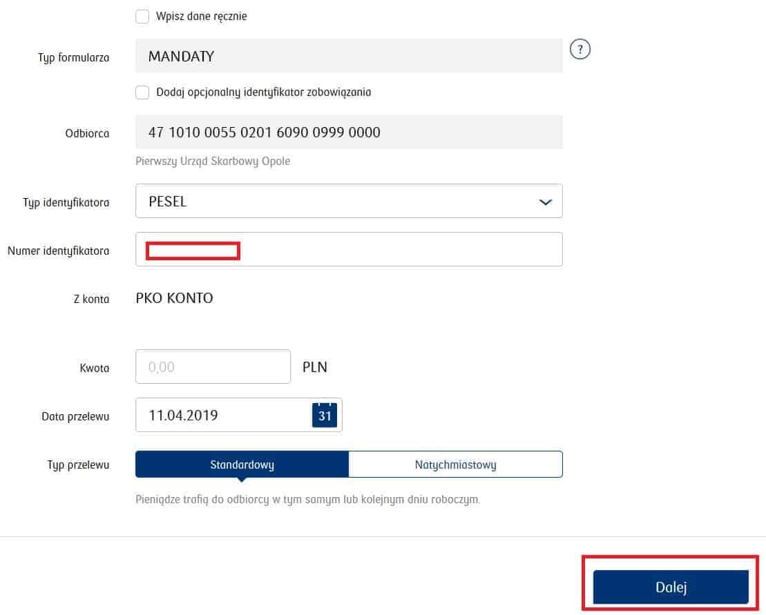 jak zapłacić mandat przezinternet